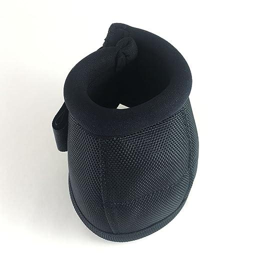 XMGreat Neopren Ballistic No Turn Bell Stiefel für Pferde, Equine One Pair Set (L, schwarz)