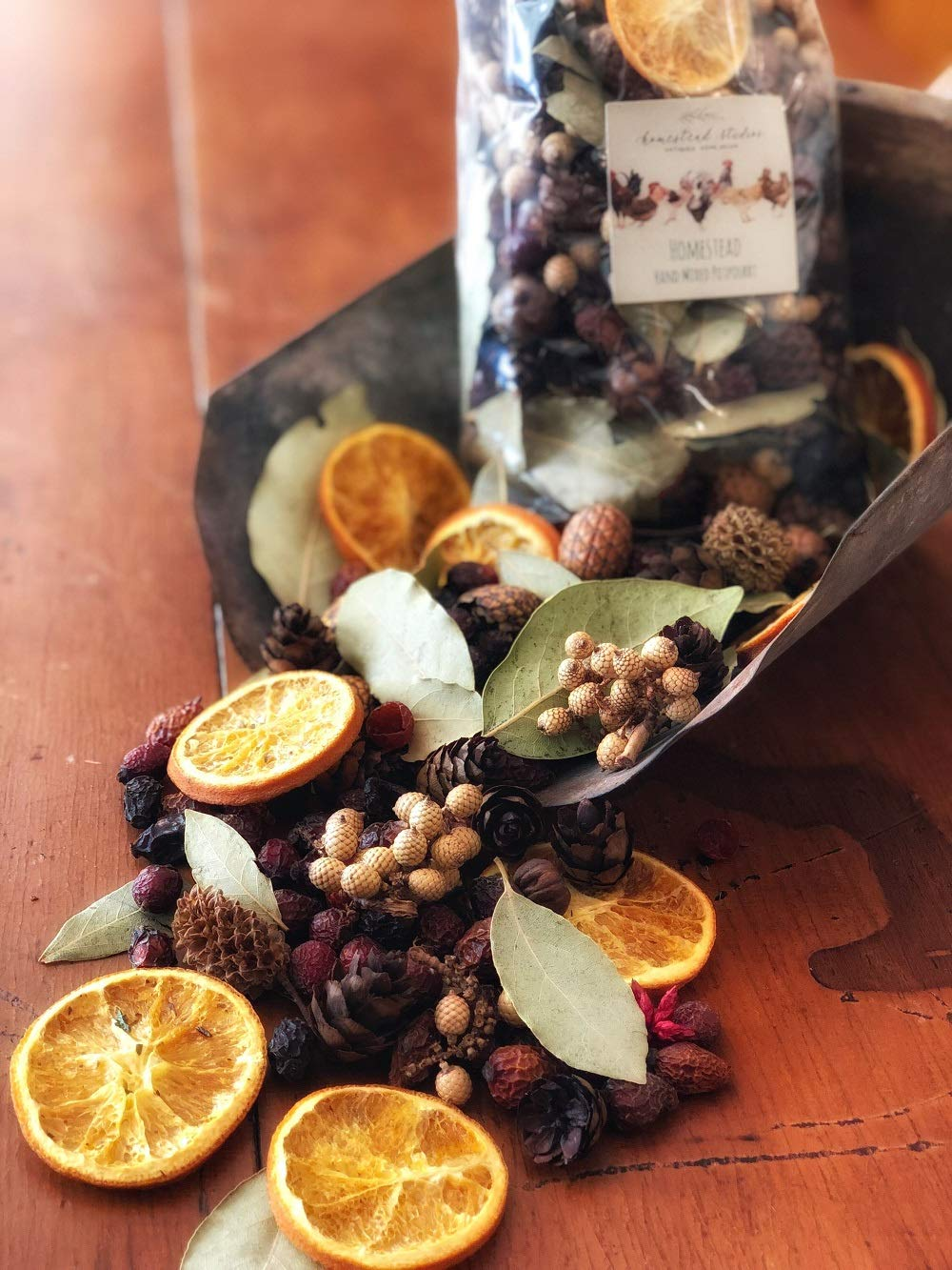 Homestead Studios Homestead Potpourri Unique Dried Fruits, pods and Other botanicals Chosen to Match The Season and Scent! Batches are Hand Mixed by Homestead Studios (Image #1)