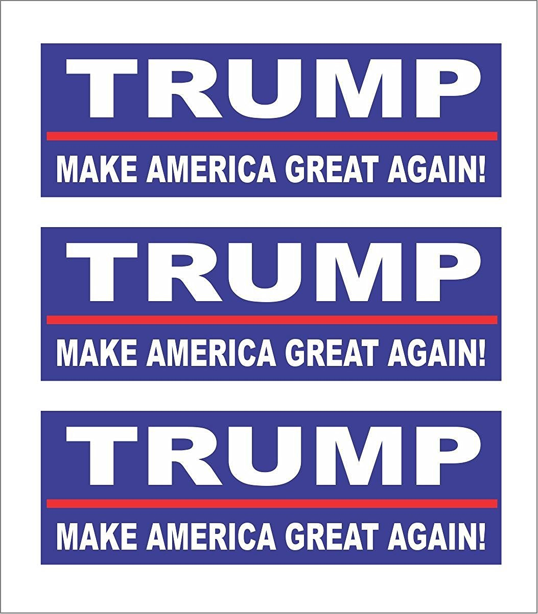 Trump make america great again! 3x1 inches tool lunch box hard hat // helmet car symbol sticker decal die cut vinyl window computer Made and Shipped in USA 3
