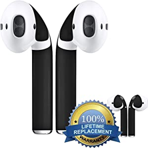 APSkins Wraps – Compatible with Apple AirPods 2 and 1 Skins for AirPod Wireless Earphones. Updated Model - Lifetime Free Replacements. (Matte Black)