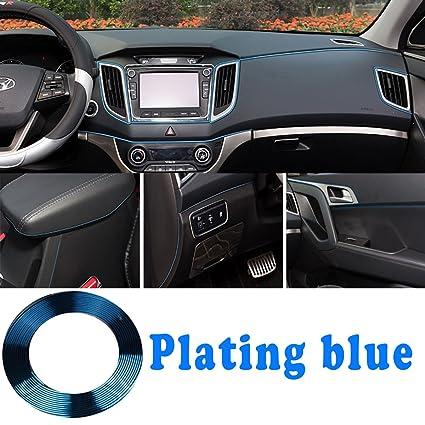 Car Interior Parts >> Hengjia Auto Parts 3d Flexible Diy Automobile Motor Interior Exterior Decoration Moulding Trimming Sticker Decorative Line 5 M Plated Blue