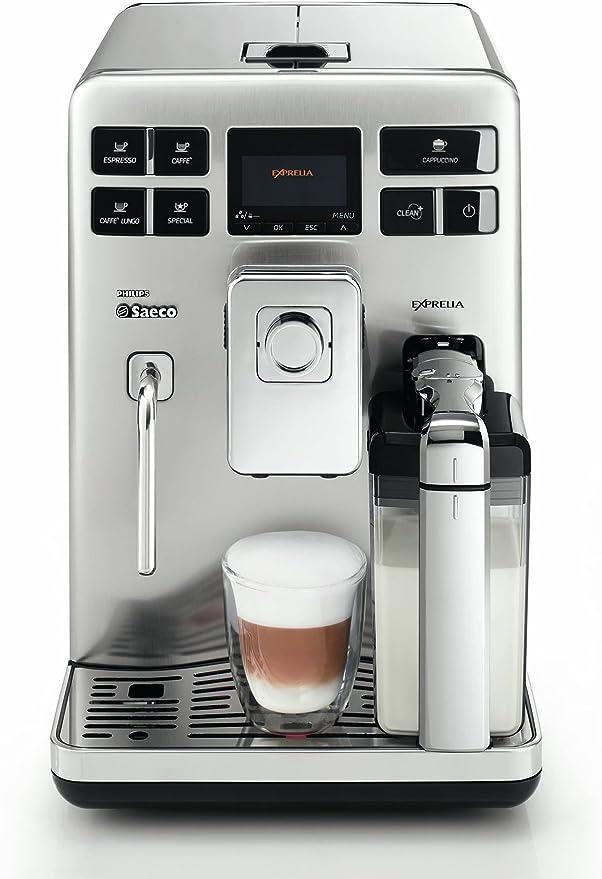 Saeco Exprelia - Cafetera espresso automática, con espumador de ...