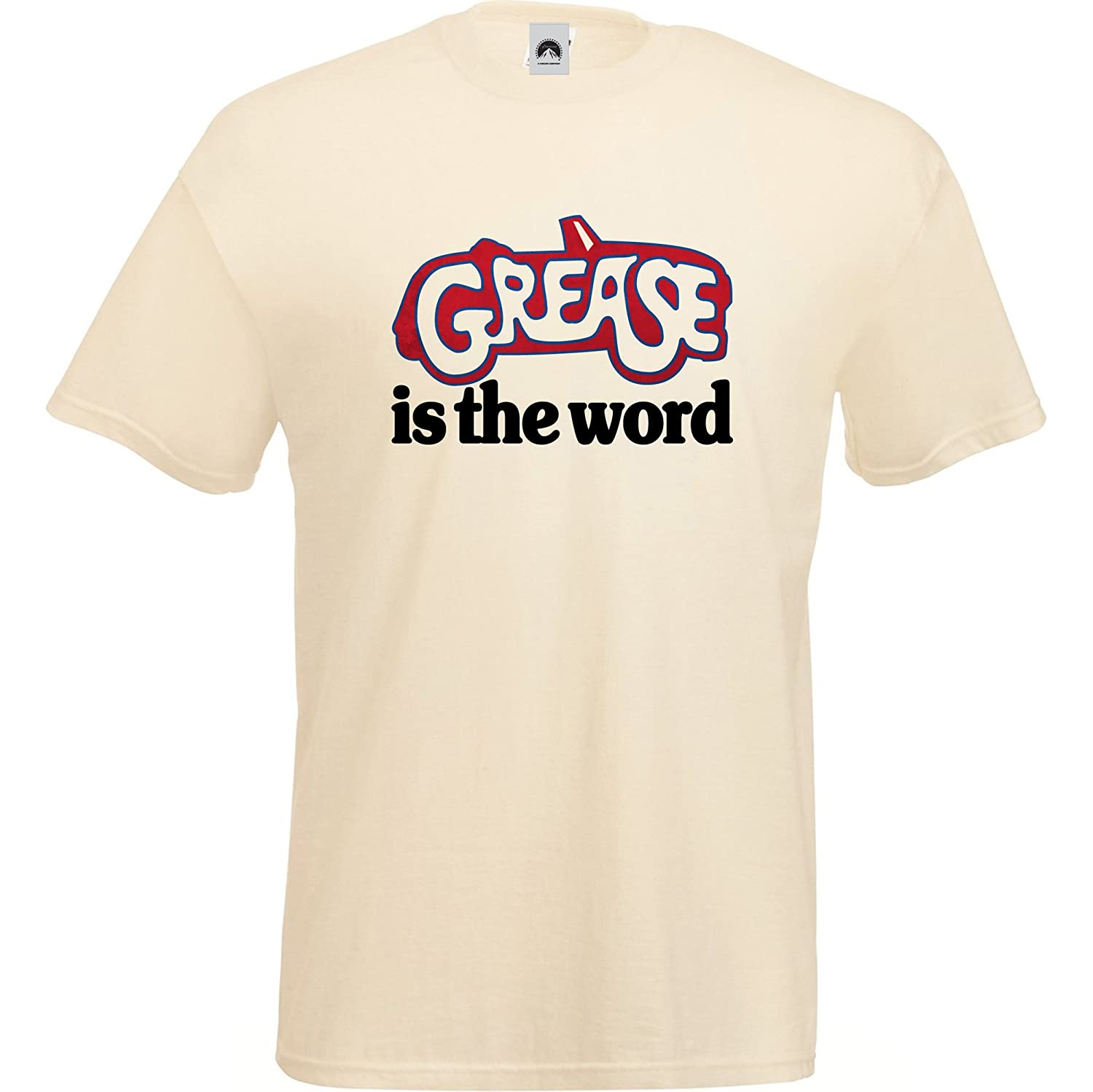 c45758ea2b5 Vitamin T Grease T-Shirt Grease Is The Word Logo tee shirt apparel retro  movie gift merchandise  Amazon.co.uk  Clothing