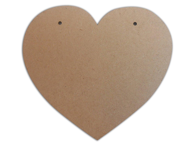 MDF LASER CUT CRAFT  SHAPE 13cm //130mm HEART x 8
