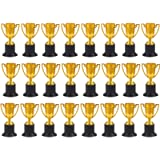 Juvale Award Trophies - 24-Pack Plastic Gold Trophy Cups for Sports Tournaments, Competitions, Parties, 1.9 x 4 x 1.9…