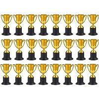 Trofeos para Premios Juvale - Paquete de 25 Copas de Plástico doradas como Trofeo para torneos deportivos, competiciones…