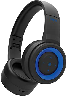 iHome iB95BLC Wireless Foldable Headphone, Ipx4 Rated Sweatproof, Rainproof and Splashproof, Black and