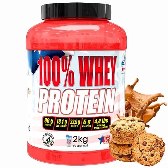 American Suplement 100% Whey Proteína en Polvo, Cookies- 2Kg.