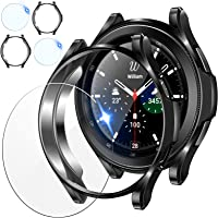 [2+2Pack] Tensea for Samsung Galaxy Watch 4 Classic Screen Protector Case 46mm, 2 Pack Tempered Glass Protective Film…