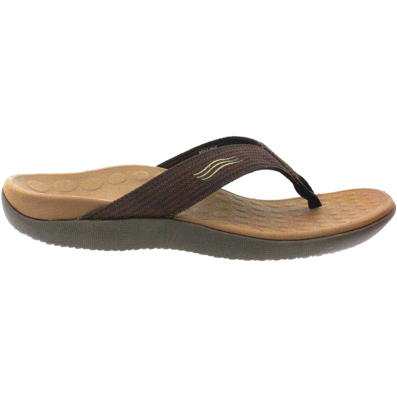 Vionic Unisex Wave Toe Post Sandal, 9 B(M) US Women / 8 D(M) US Men, (Chocolate)