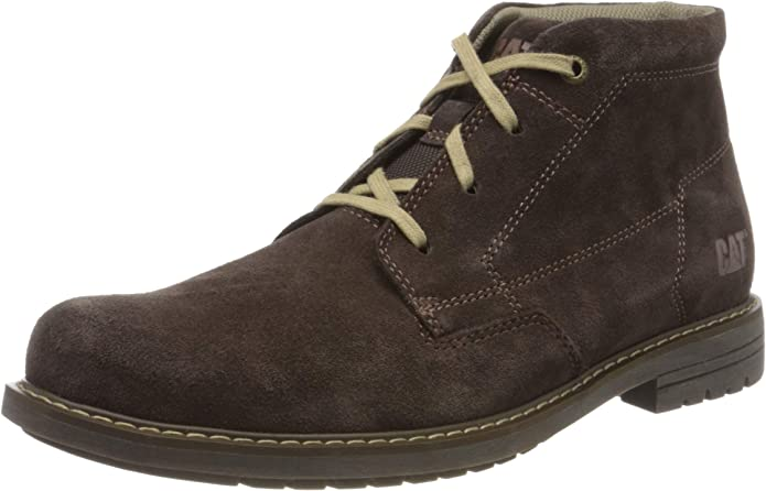 Boys Caterpillar Lace Up Casual Mid Cut Ankle Boot Chamonix