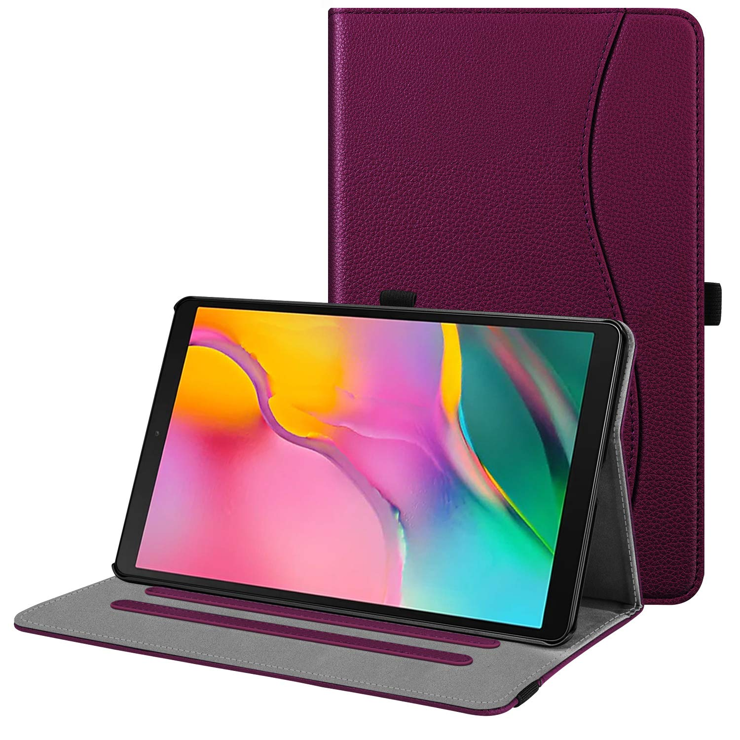 Funda Para Samsung Tab 10.1 2019 Model Sm-t510/t515 Purpura