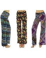 Dinamit Jeans Women Printed Drawstring Waist Palazzo Pants