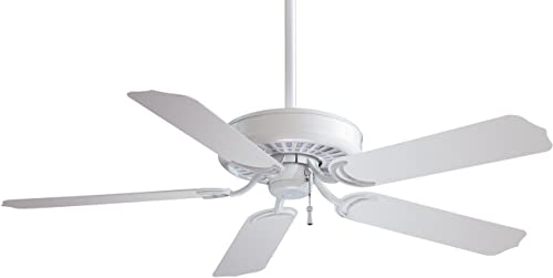 Minka-Aire F571-WH Downrod Mount, 5 White Blades Ceiling fan, White