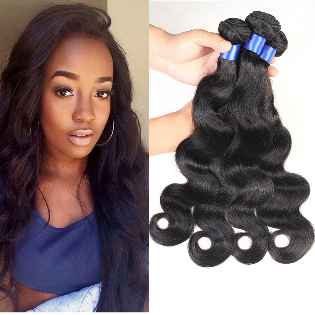 Amazon hc diva body weave brazilian virgin hair 100 amazon hc diva body weave brazilian virgin hair 100 unprocessed human hair 4 bundles brazilian hair bundles real human hair extensions 1b natural pmusecretfo Images