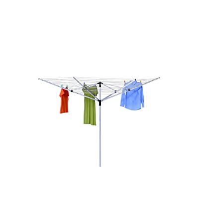 """Honey-Can-Do DRY-05262 In Ground Umbrella Dryer with 165' of Drying Line, 7 x 72"""",White: Home & Kitchen"""