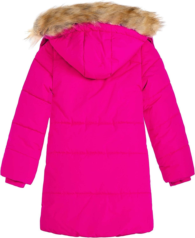 Wantdo Girls Water-Resistant Winter Coat Thicken Fleece Lined Puffer Jacket Hooded Parka