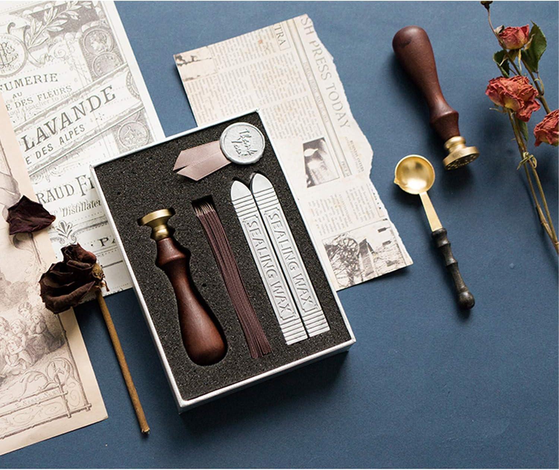 Aufbewahrungsbox f/ür Siegelwachs Kit Stifte Siegel Schmelzl/öffel Wachs Stempel Aufbewahrung Box Kiste