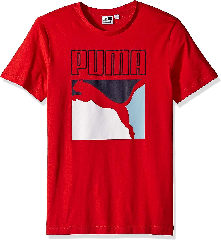 PUMA Mens Graphic Box Logo Tee