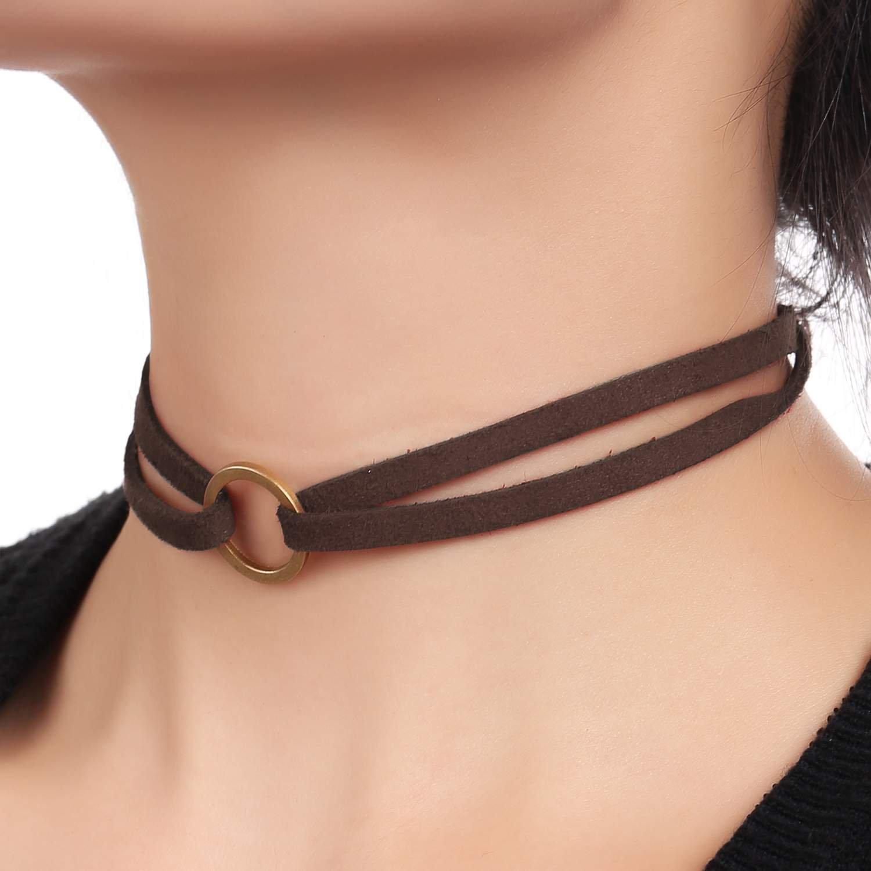 ZEARO Damen Choker Halsketten Set Velvet Halskette Tattoo Halsband Schwarz Halsband