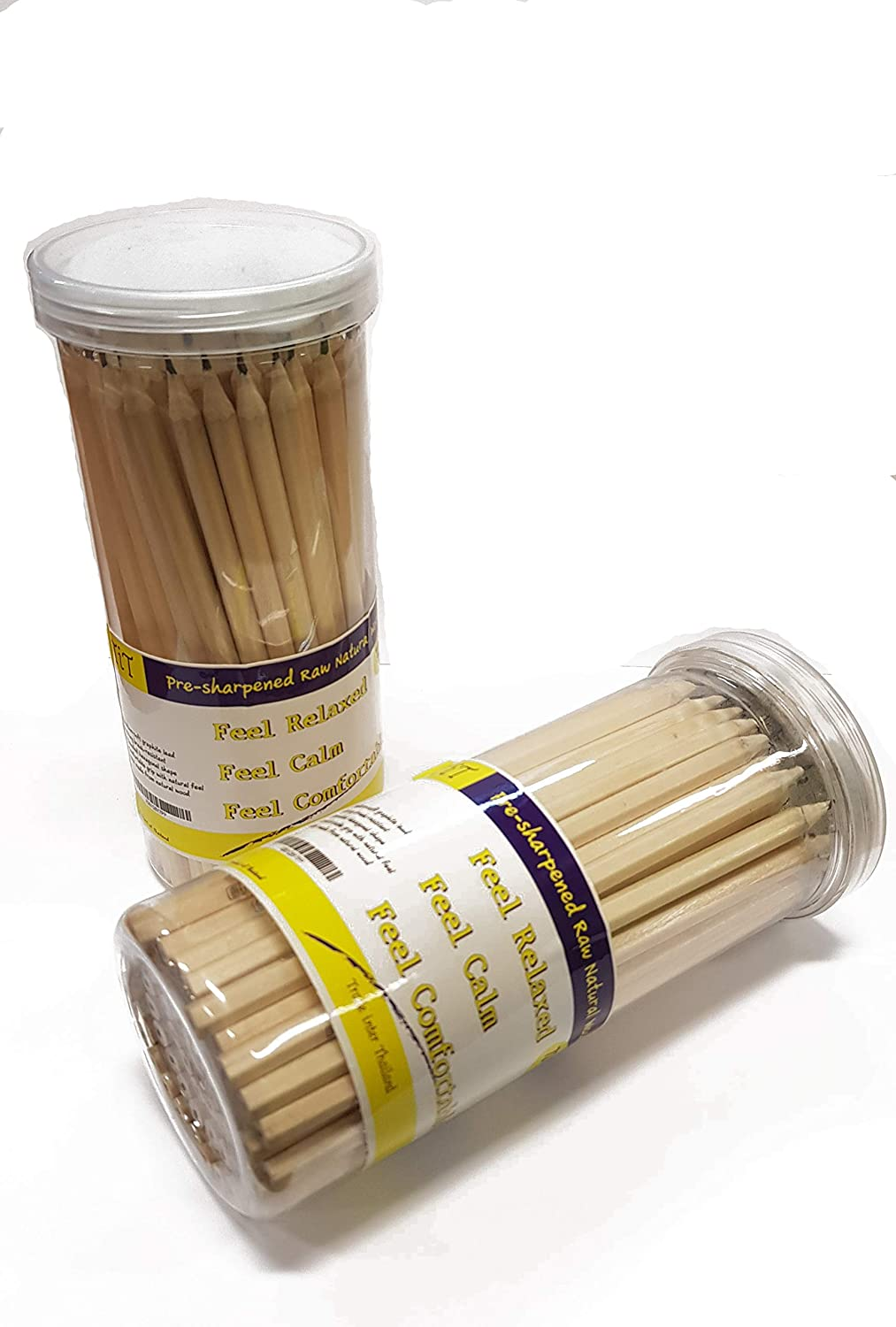 71b236e4b Amazon.com   Pre-sharpened Raw Natural Wood Pencils 72 PCs in Box   TiT    Office Products