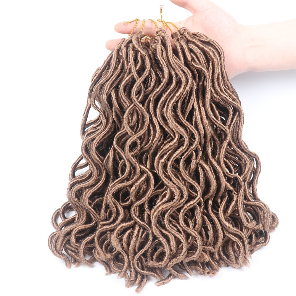14 6 Packs Wavy Faux Locs Crochet Hair 2x Janet Collection Havana