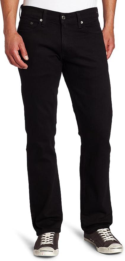 Levi's Men's 514 Straight fit Stretch Jean, Black, 26W x 29L
