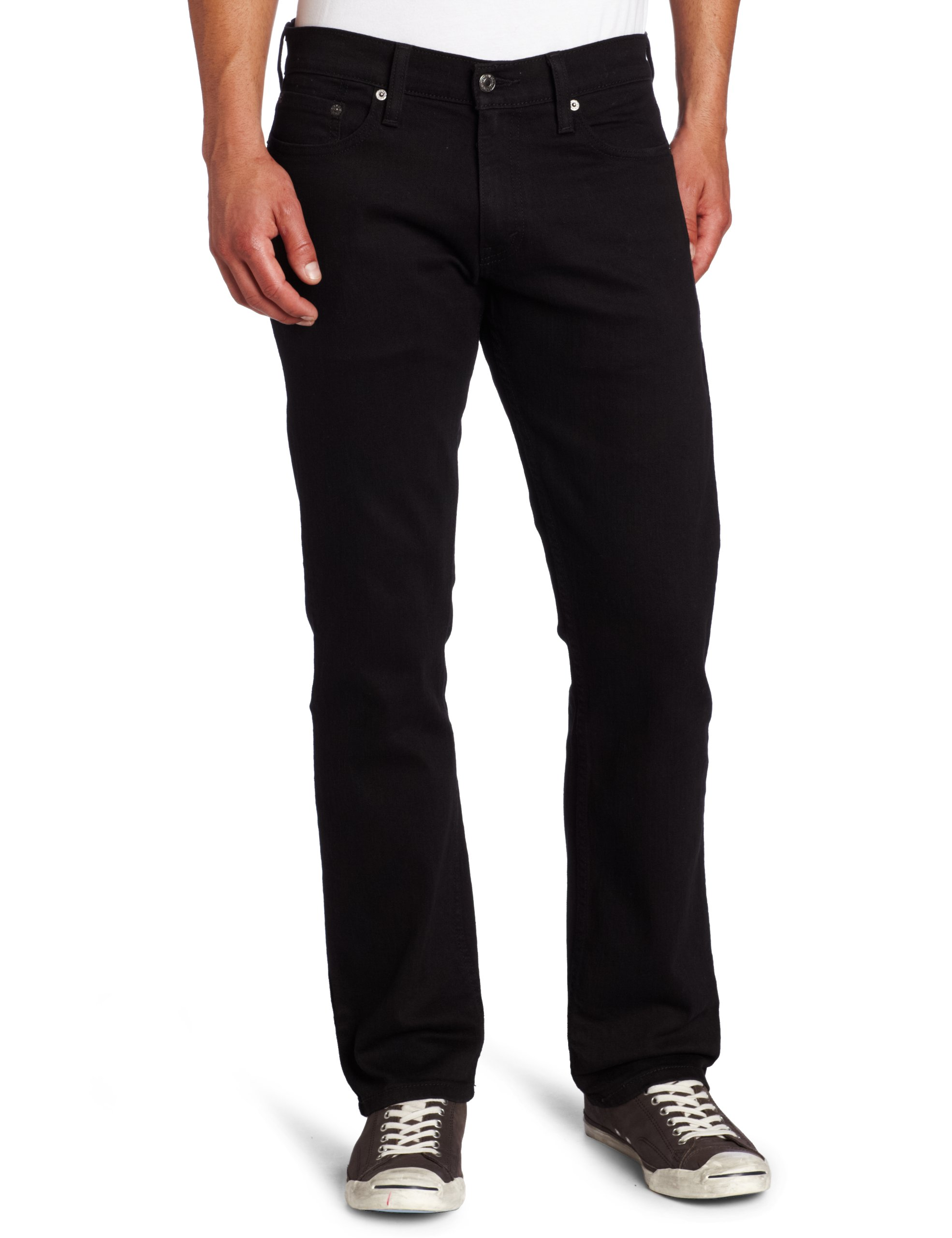 Levi_s Men_s 514 Straight fit Stretch Jean,  Black - Stretch, 32x36