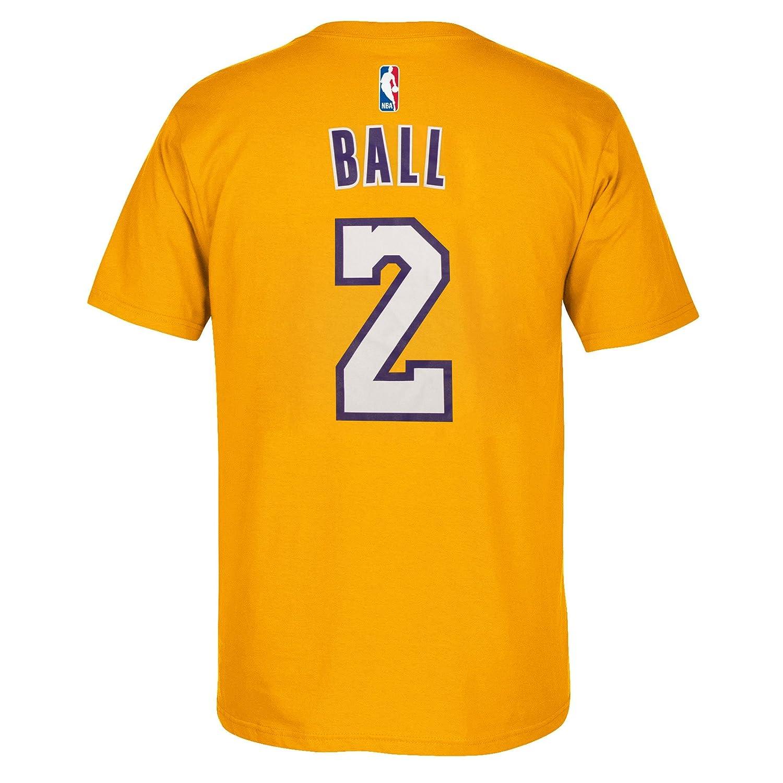 Amazon.com : Los Angeles Lakers Lonzo Ball adidas Player T-Shirt : Sports & Outdoors