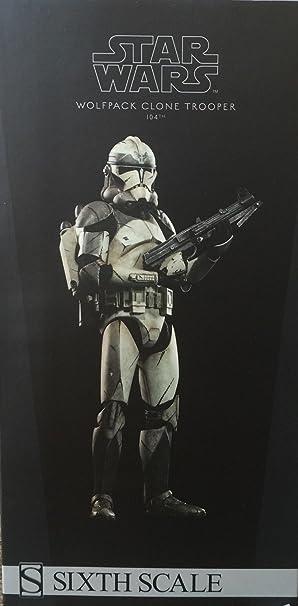 amazon sideshow star wars wolfpack clone trooper 104th battalion 1