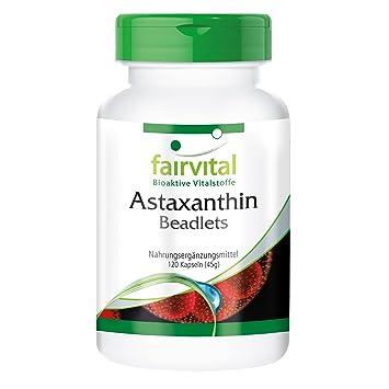 15 mg de astaxantina por día - por 2 meses - ALTA DOSIS - 120 cápsulas - microencapsulado en perlas AstaPure®: Amazon.es: Salud y cuidado personal