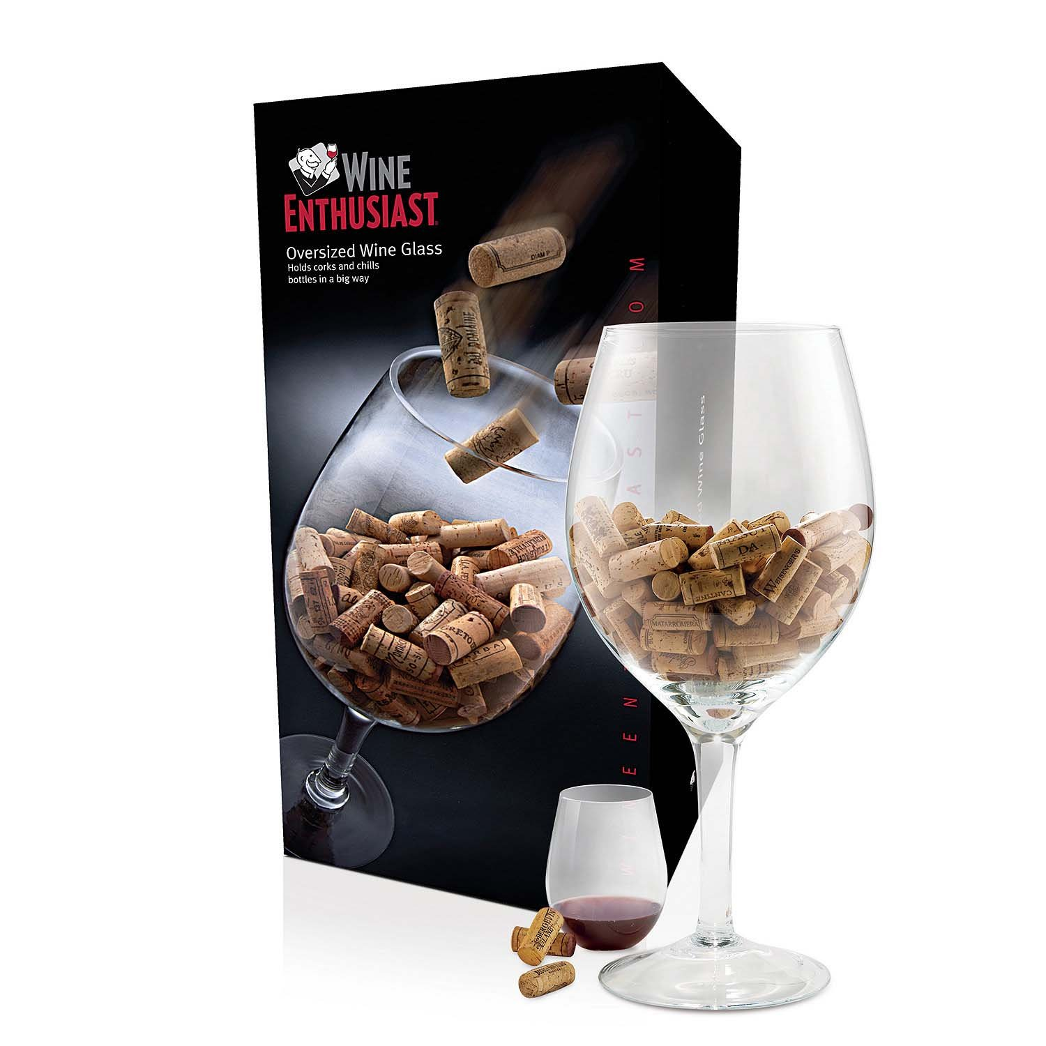 Amazoncom Wine Enthusiast Oversized Wine Glass Cork Holder Huge