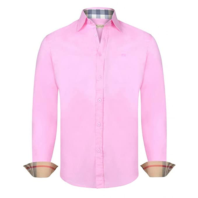 Burberry - Polo - Manga larga - para hombre Rosa M: Amazon.es ...