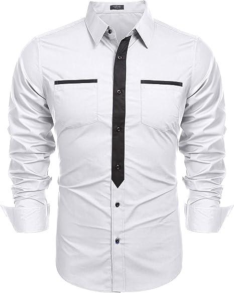 Coofandy Mens Cotton Long Sleeve Button