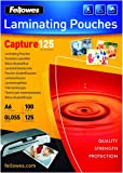 Fellowes Capture 54x86mm 125 Micron Glossy Laminating Pouches (Pack of 50)