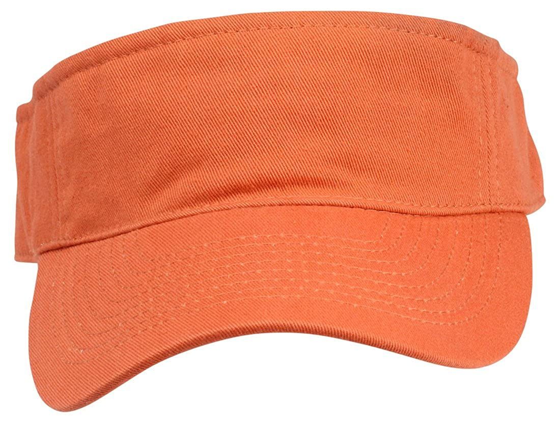 Blank Hat Washed Twill Visor in Orange