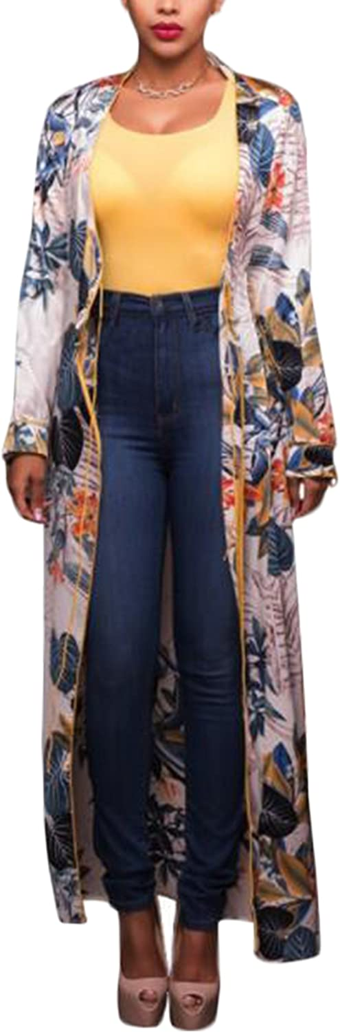 Womens 2 Piece Floral Print Outfits Set Cardigan Cover-Up+Shorts