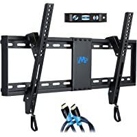 "Mounting Dream Tilt TV Wall Mount Bracket for Most of 37-70 Inches TV, Mount with VESA up to 600x400mm, Fits 16"", 18"", 24"" Studs and Loading Capacity 132 lbs, Low Profile and Space Saving MD2268-LK"