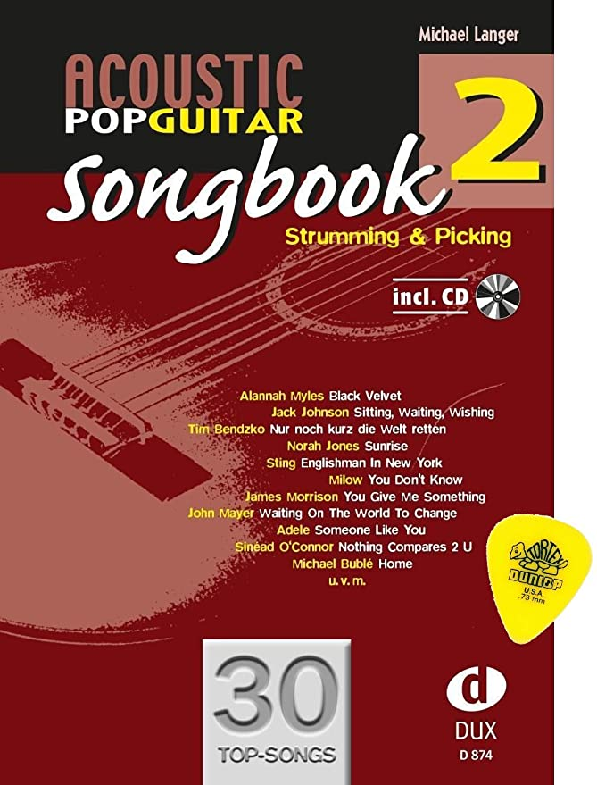 Acoustic Pop Guitar Songbook 2 con 30 canciones y original de Jim ...