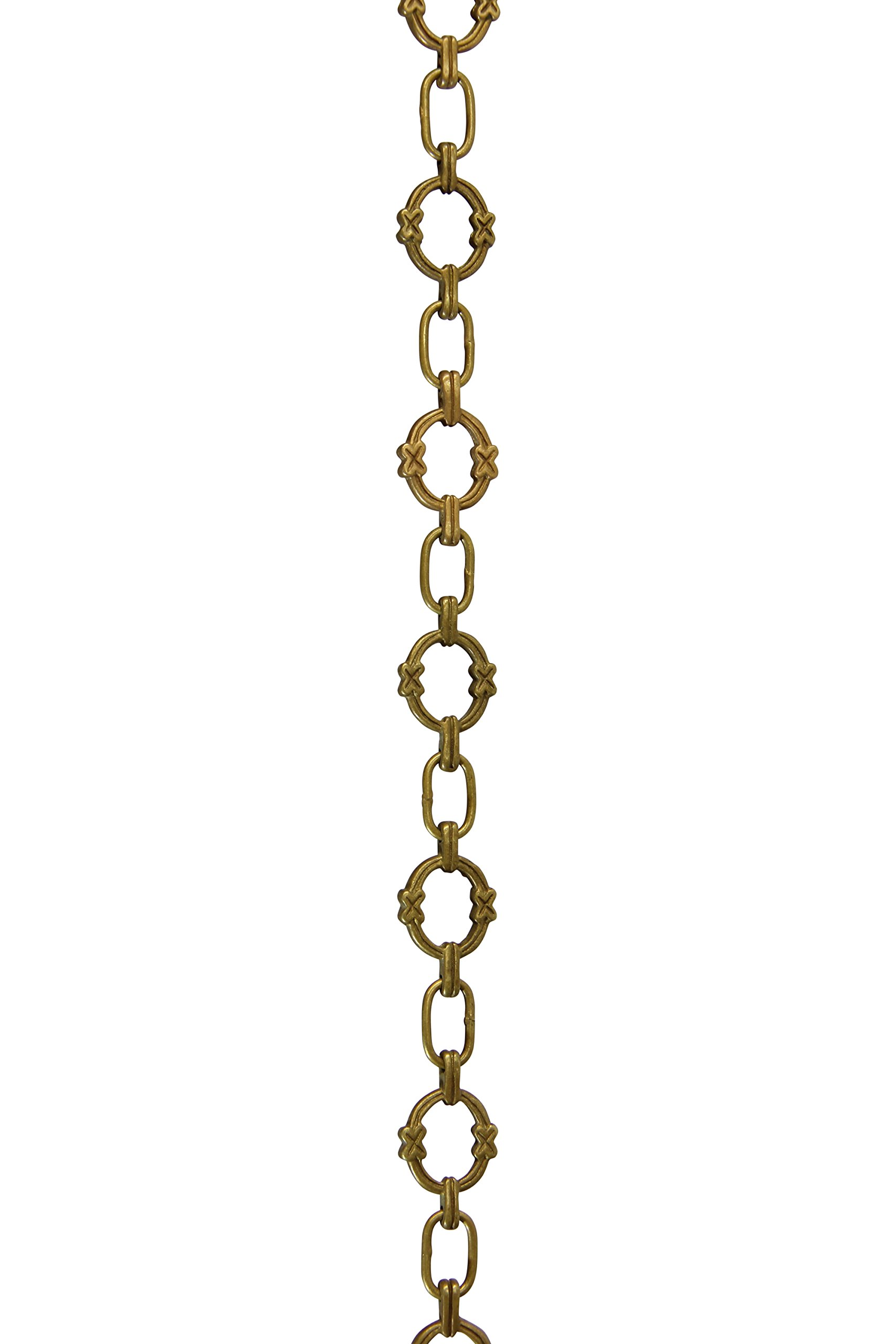 RCH Hardware CH-05-AB Solid Brass Chain for Hanging, Lighting, Antique