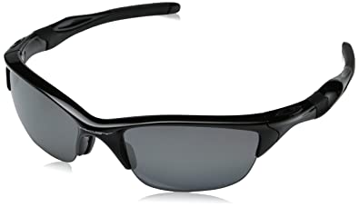half jacket  Oakley Mens Half Jacket 20 OO9144-04 Polarized Oval Sunglasses,Polished  Black Frame/