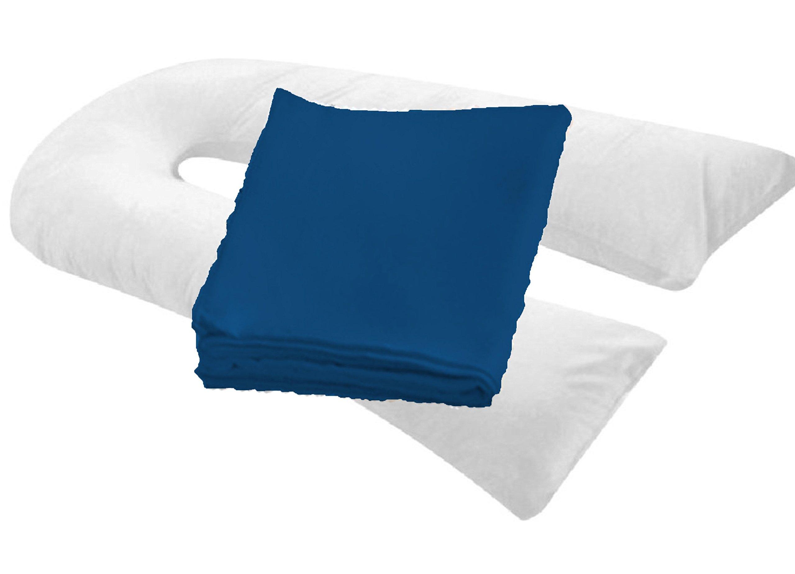 "20"" X 130"" Oversized Body Pillowcase/cover - Zipper End ( NAVY )"