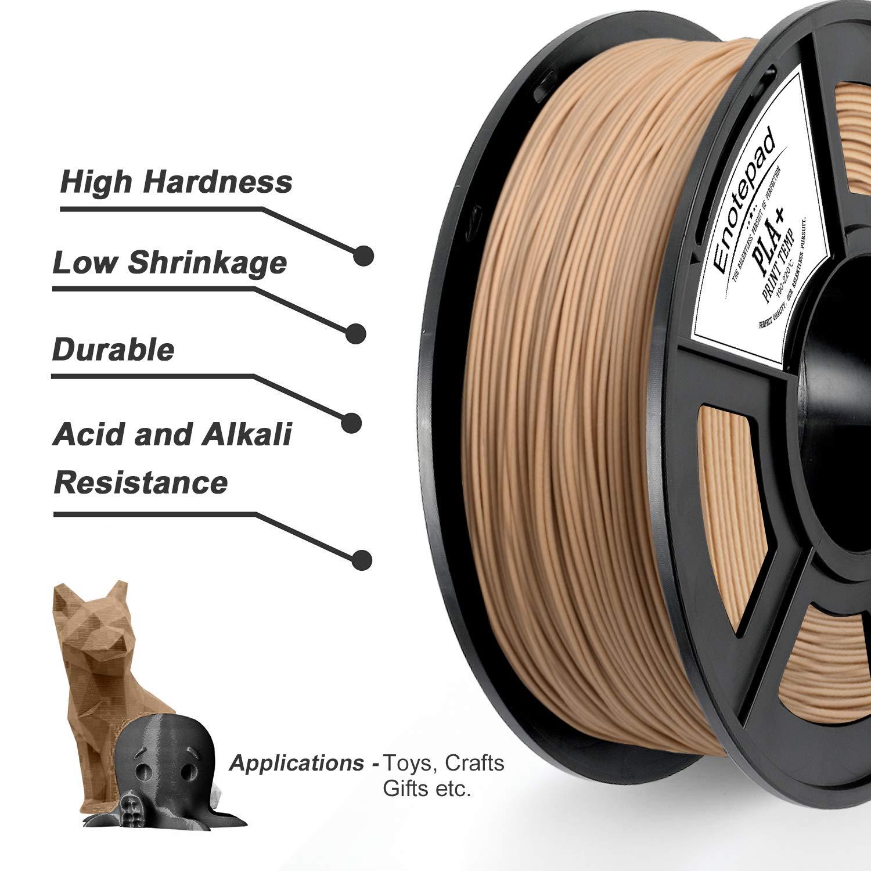 PLA 3D Printer Filament,PLA ,Dimensional Accuracy 1.75 mm,0.5KG*3 Spools 0.02 mm,Filament 3D Printing Materials,Compatible with most 3D Printer//3D pen,Enotepad Black+White+Black PLA Plus 3.3lbs //