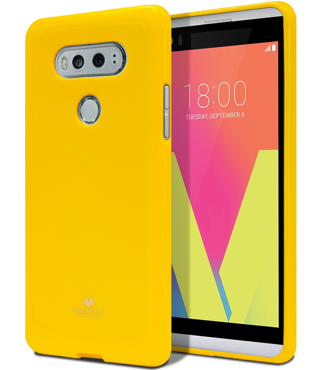 Lg V20 Case Thin Slim Goospery Flexible Iphone 8 Plus Pearl Jelly Yellow Perfect Fit Tpu Lightweight Shock Absorption Premium Bumper Cover