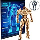 """Pacific Rim Uprising Gipsy Avenger Poster and 3D Wood Model Kit - Build, Paint and Collect Your Own Wooden Model - Great For Kids and Adults, 12+ - 6 1/2""""h"""