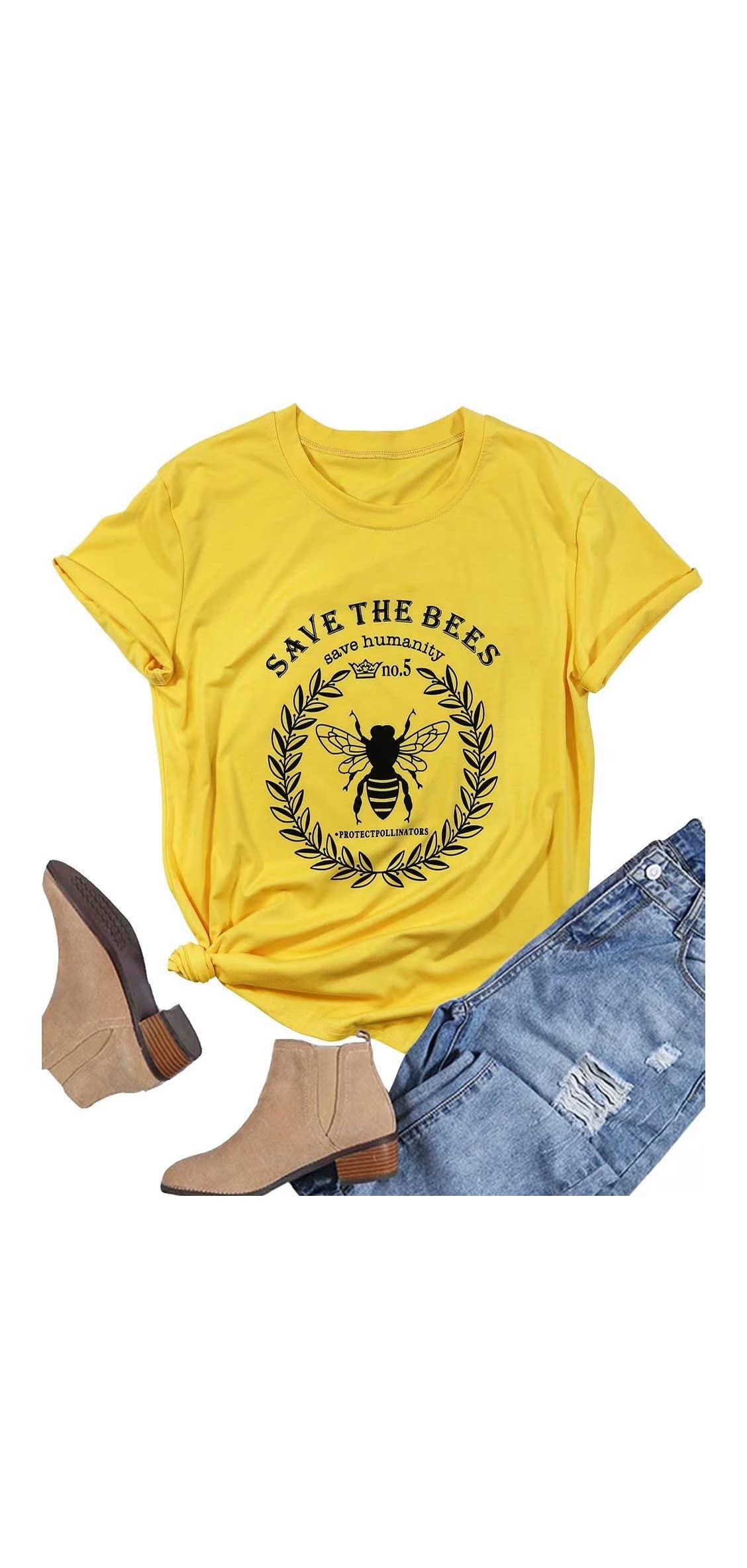 Women Save The Bees T Shirt Short Sleeve O Neck Save The Shirt