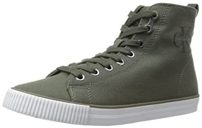 def147f3a7 Calvin Klein Jeans Women s Dolores Canvas Fashion Sneaker Military 9.5 ...