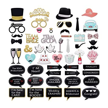 Amazoncom Photo Booth Props Diy Partyfavor Photo Stick Props52