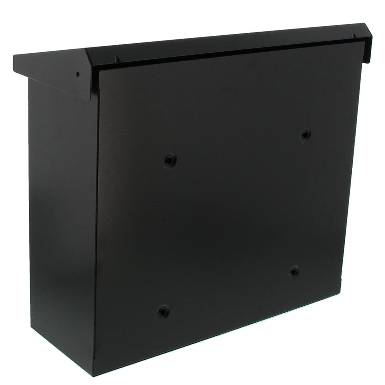Noir Norme UE EN 13724 Comfort 913 S BURG-W/ÄCHTER Bo/îte aux Lettres avec Couvercle Basculant Format de Fente : A4 Acier Galvanis/é