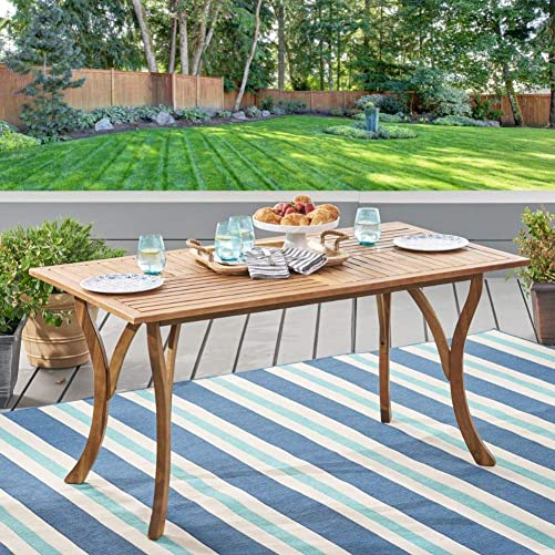 Christopher Knight Home Hermosa Acacia Wood Rectangular Table